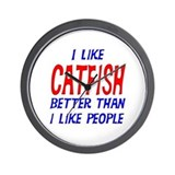 I Like Catfish Wall Clock
