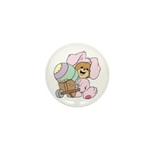 Easter Bunny Teddy Bear Mini Button (100 pack)