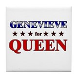 GENEVIEVE for queen Tile Coaster