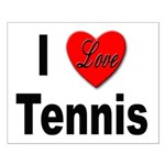 I Love Tennis Small Poster