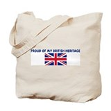 PROUD OF MY BRITISH HERITAGE Tote Bag