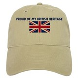 PROUD OF MY BRITISH HERITAGE Baseball Cap