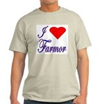 I Love Farmor Ash Grey T-Shirt