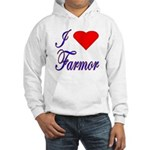 I Love Farmor Hooded Sweatshirt