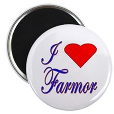 I Love Farmor Magnet