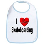 I Love Skateboarding Bib