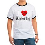 I Love Skateboarding (Front) Ringer T