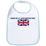 MADE IN US WITH BRITISH PARTS Bib