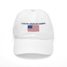 I LOVE MY AMERICAN GRANDPA Baseball Cap