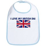 I LOVE MY BRITISH DAD Bib