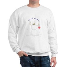 warm-hearted snowman Sweatshirt