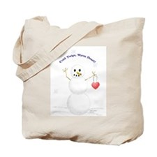 warm-hearted snowman Tote Bag