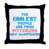 Coolest: Pittsburg, NH Throw Pillow