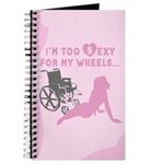 Sexy Wheelchair Girl in Pink Journal / Notebook