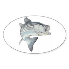 Lunker's Stripe Bass Oval Decal