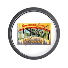 Luray Virginia Greetings Wall Clock