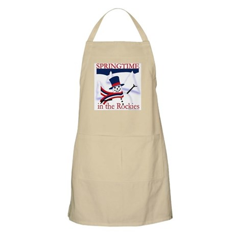 Springtime in the Rockies BBQ Apron