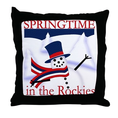 Springtime in the Rockies Throw Pillow