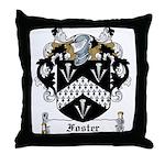 Foster Family Crest Throw Pillow