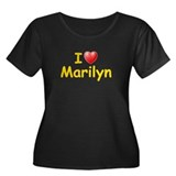 I Love Marilyn (L) Women's Plus Size Scoop Neck Da