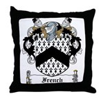French Family Crest Throw Pillow