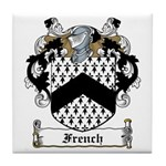 French Family Crest Tile Coaster