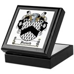 French Family Crest Keepsake Box