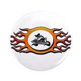 "Biker Chick - Yellow 3.5"" Button"