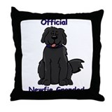 Newfie Grandad Throw Pillow