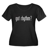 Got Rhythm? Women's Plus Size Scoop Neck Dark T-Sh