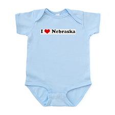I Love Nebraska -  Infant Creeper