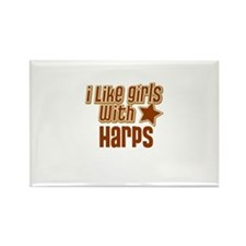 I Like Girls with Harps Rectangle Magnet (10 pack)