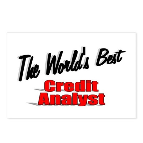 """The World's Best Credit Analyst"" Postcards (Packa"