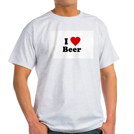 I Love [Heart] Beer Ash Grey T-Shirt