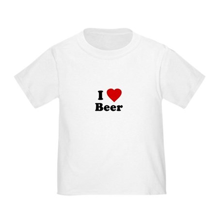 I Love [Heart] Beer Toddler T-Shirt