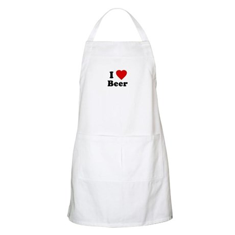 I Love [Heart] Beer BBQ Apron