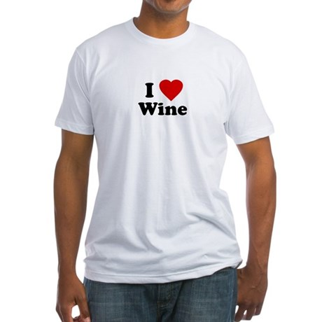 I Love [Heart] Wine Fitted T-Shirt