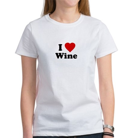 I Love [Heart] Wine Womens T-Shirt