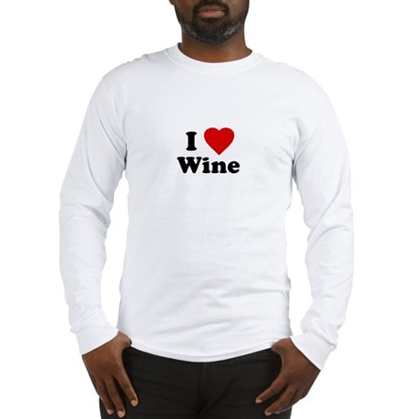 I Love [Heart] Wine Long Sleeve T-Shirt