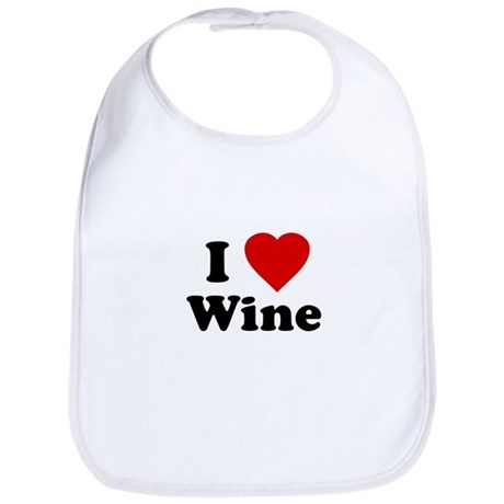 I Love [Heart] Wine Bib