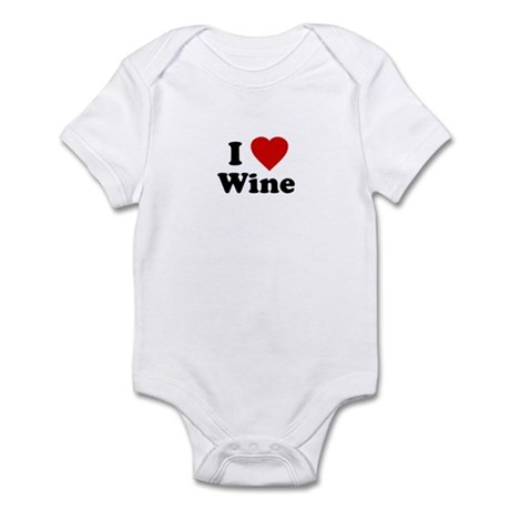 I Love [Heart] Wine Infant Creeper