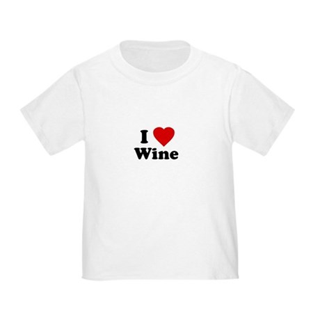 I Love [Heart] Wine Toddler T-Shirt