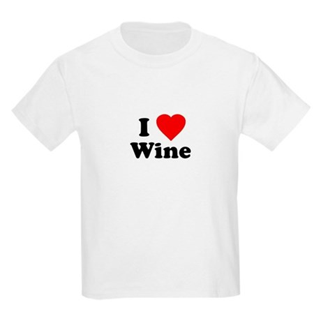 I Love [Heart] Wine Kids T-Shirt