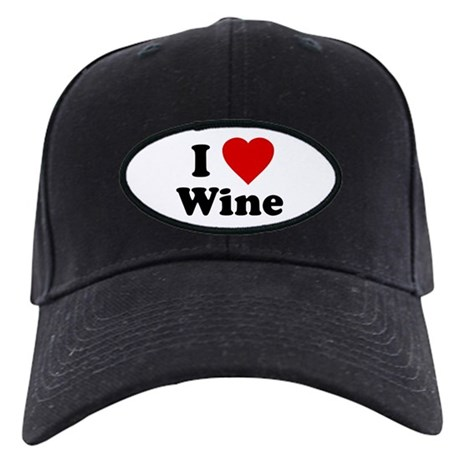 I Love [Heart] Wine Black Cap