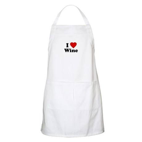 I Love [Heart] Wine BBQ Apron