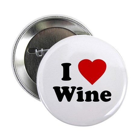 I Love [Heart] Wine Button
