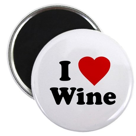 I Love [Heart] Wine Magnet