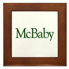 McBaby (Irish Baby) Framed Tile