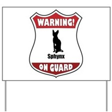Sphynx On Guard Yard Sign