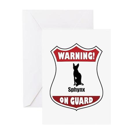 Sphynx On Guard Greeting Card